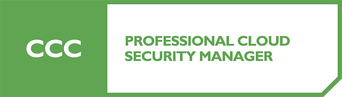 CCC Professional Cloud Security Manager