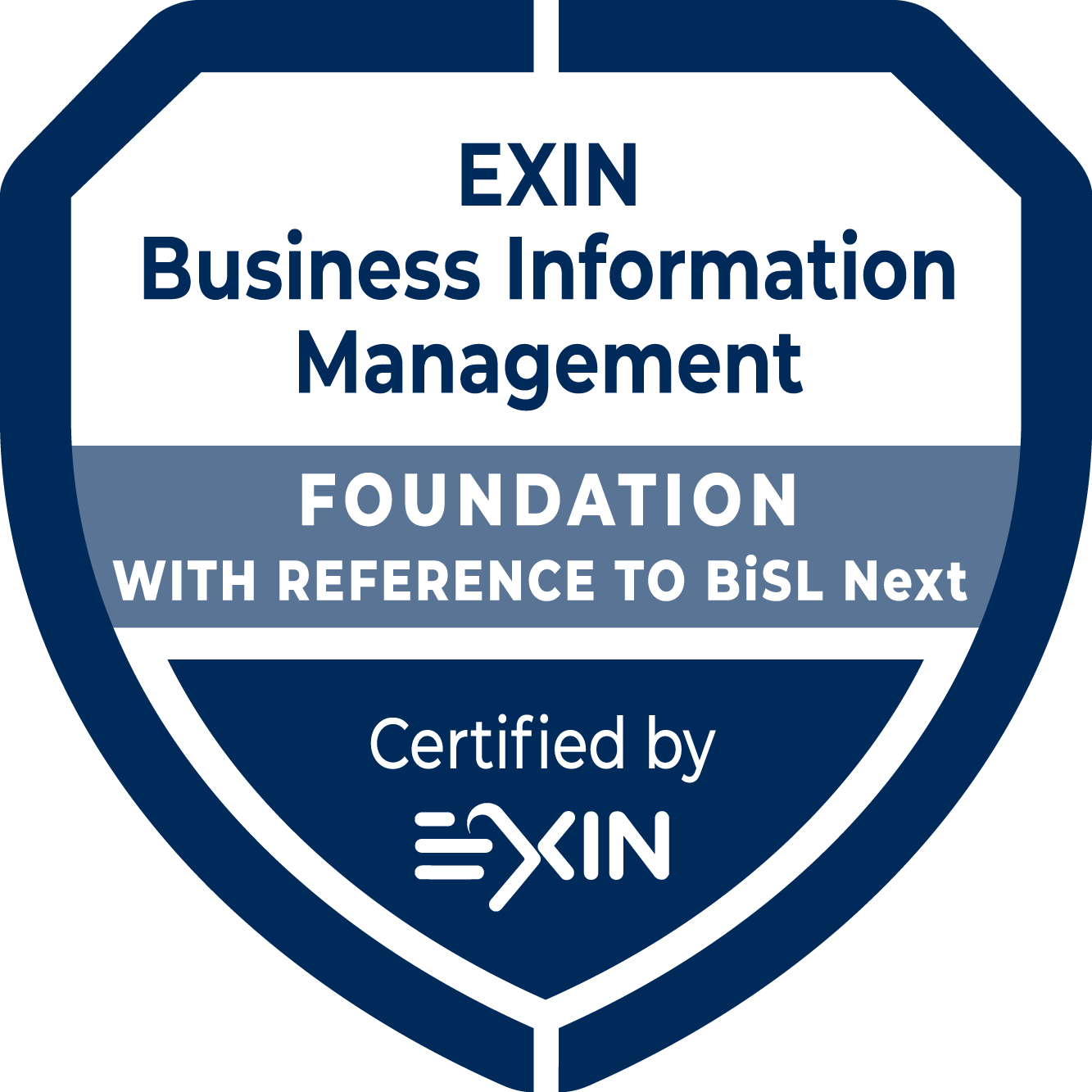 EXIN Business Information Management Foundation with reference to BISL NEXT