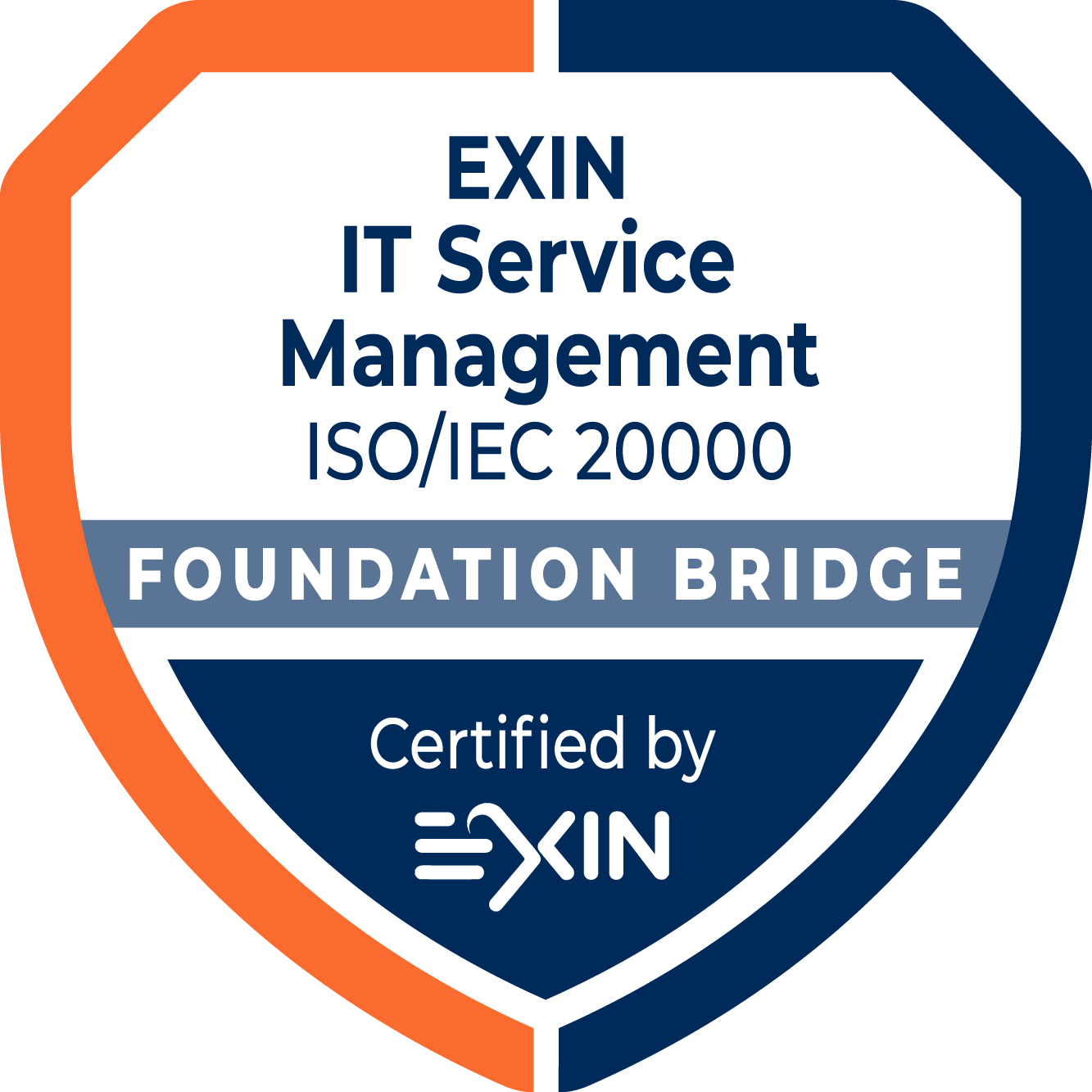 EXIN IT Service Management Foundation Bridge based on ISO/IEC 20000:2018